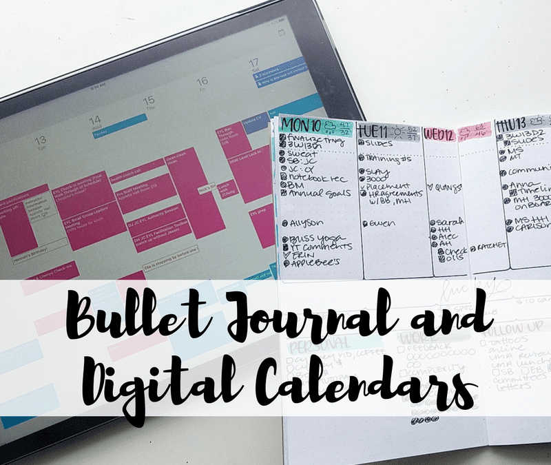 YES you can absolutely use the bullet journal system and your digital calendar! I use my Google Calendar, I'll tell you how today