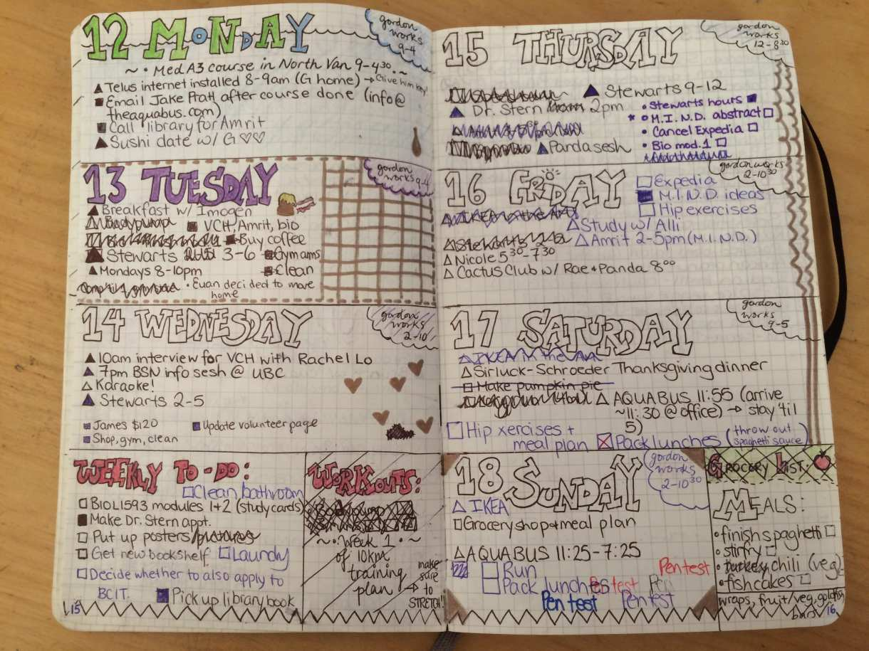 Bullet Journal Pretty3
