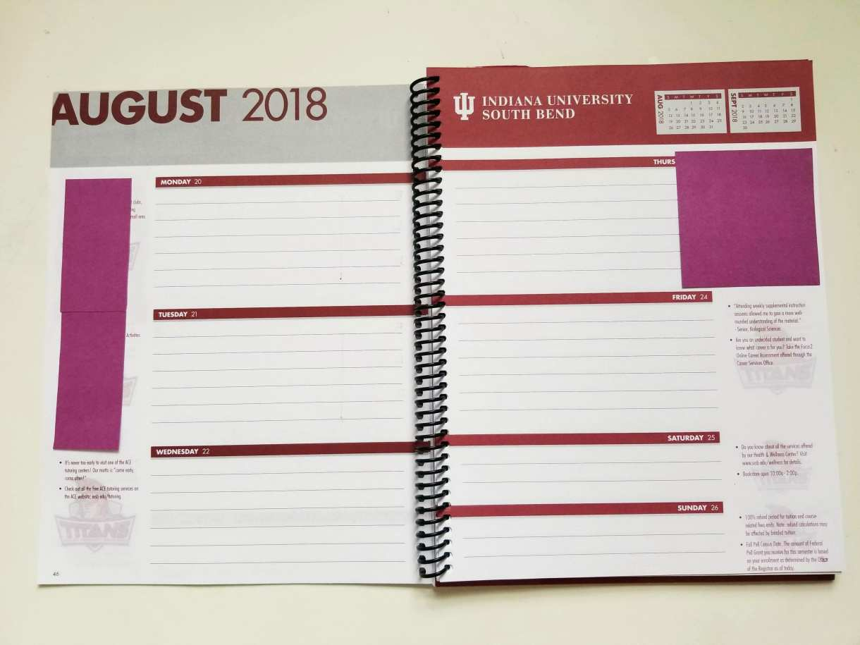 Here are some ideas to customize a standard school planner