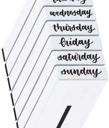 Calligraphy Handwriting Days of The Week