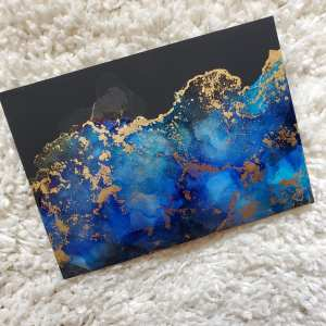 Photo of an alcohol art piece titled Galactic Tide II