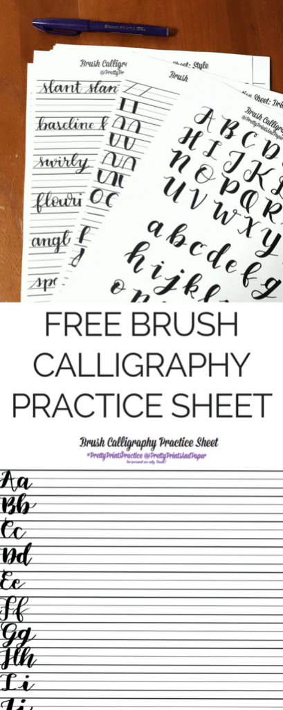Updates Free Brush Calligraphy Practice Sheet Pretty