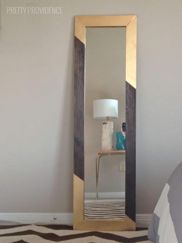 gold frame full length mirror