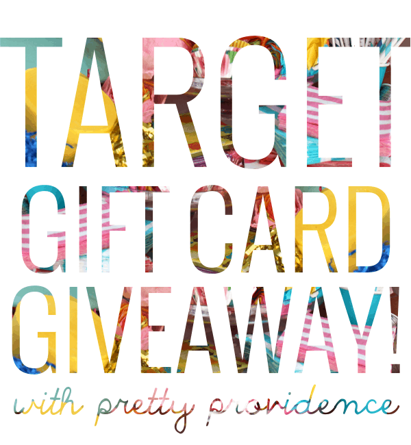 Target Gift Card Giveaway with Pretty Providence!