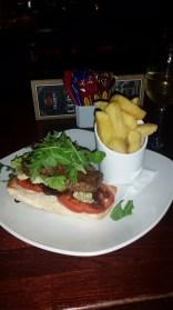 The steak sandwich from Harrys