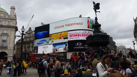 The screen in Piccadilly Circus.
