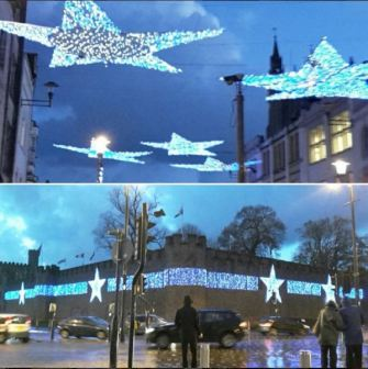 Lights in Cardiff