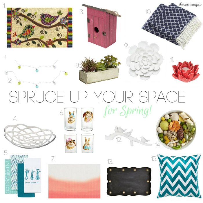 Spruce Up Your Space for Spring 2016