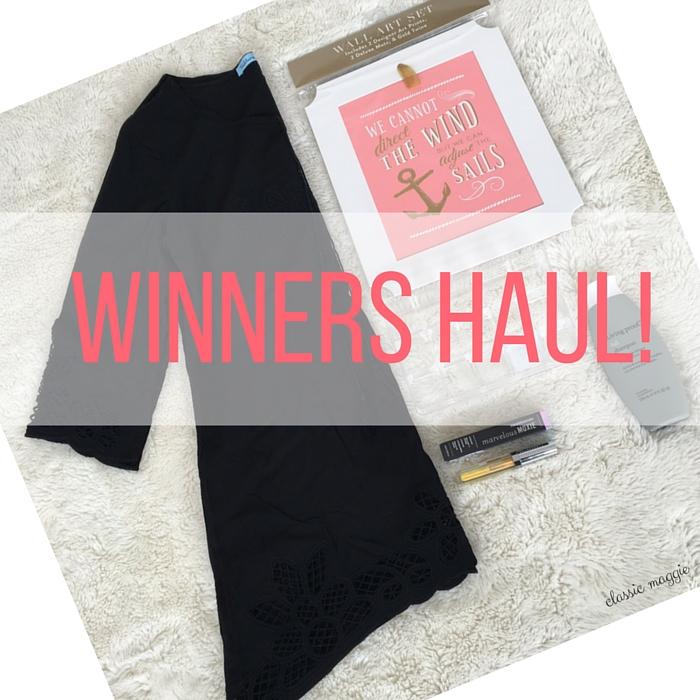 Winners Haul