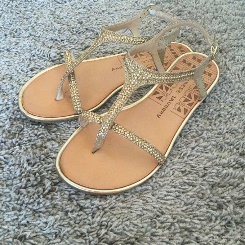 Chinese Laundry Gweneth Metallic Flat Sandal