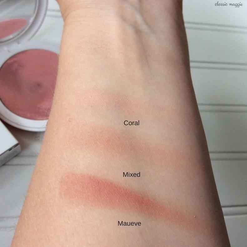 Swatches of Kiko Blending Wave Multi-color Blush Ingenious Mauve