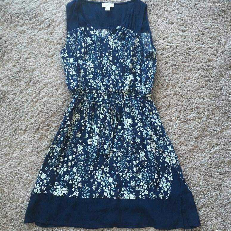 Loft Outlet Floral Print Dress