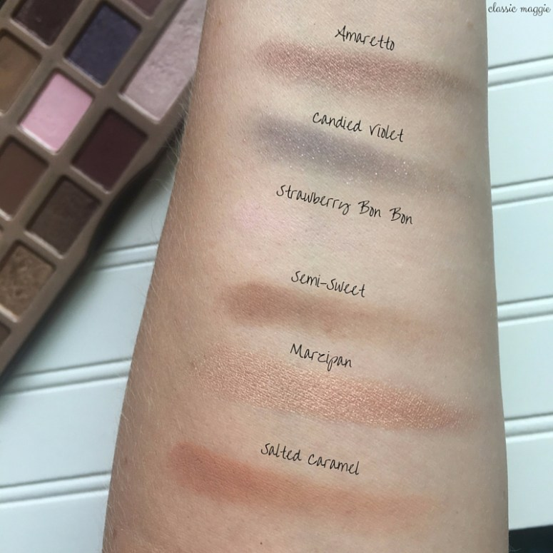 Swatches Too Faced Chocolate Bar Palette