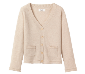 LAMBSWOOL SWING CARDIGAN - Toast UK