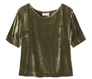SILK VELVET TOP - Toast UK