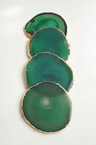 Emerald Agate Coasters