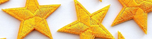 Embroidered iron-on stars