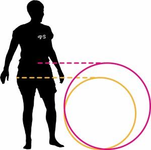 Hoop measurement image