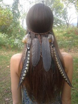 Feather Line Native Head Band