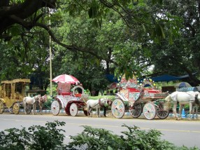 The fairy rides by Victoria Memorial