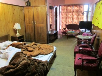 Our hotel bedroom (we also had an entry room and it felt quite luxurious)