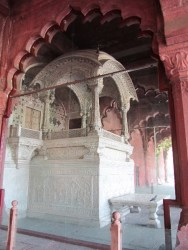 The throne in the Red fort