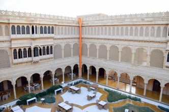Central courtyard during day