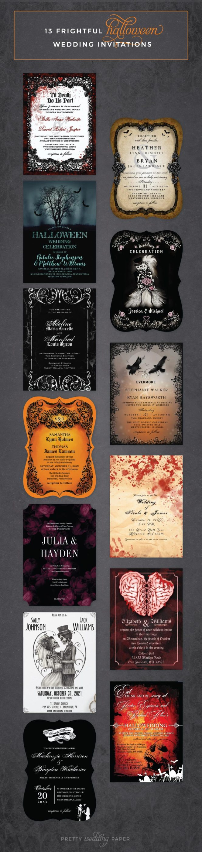 Zombie Wedding Invitation Archives