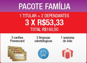 Pacote cartão família