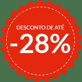 Desconto de até -28%