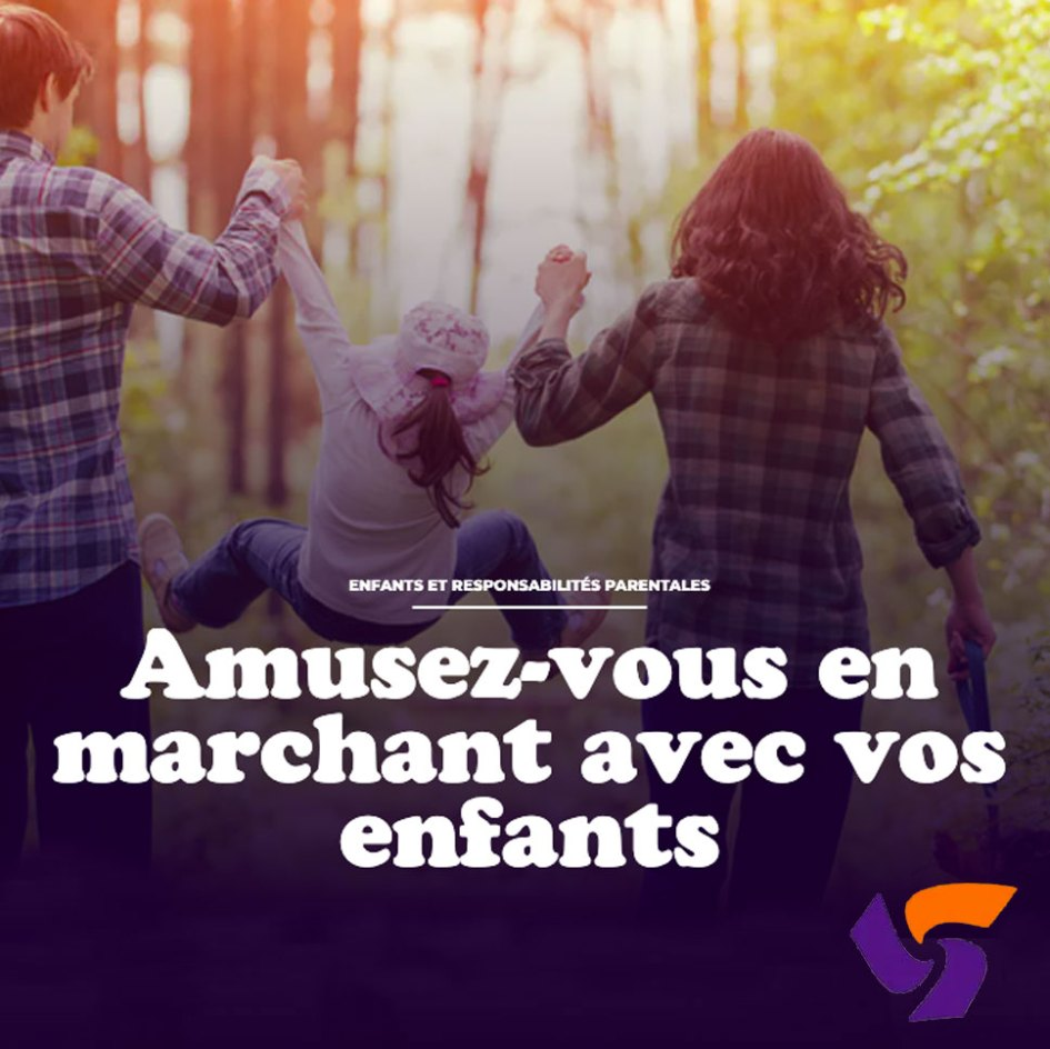 famille marchant