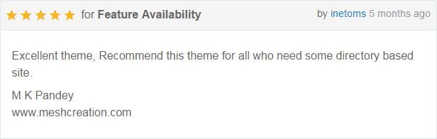 DirectoryPRO WordPress theme - rating4