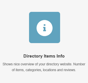 Directory Items Info Element