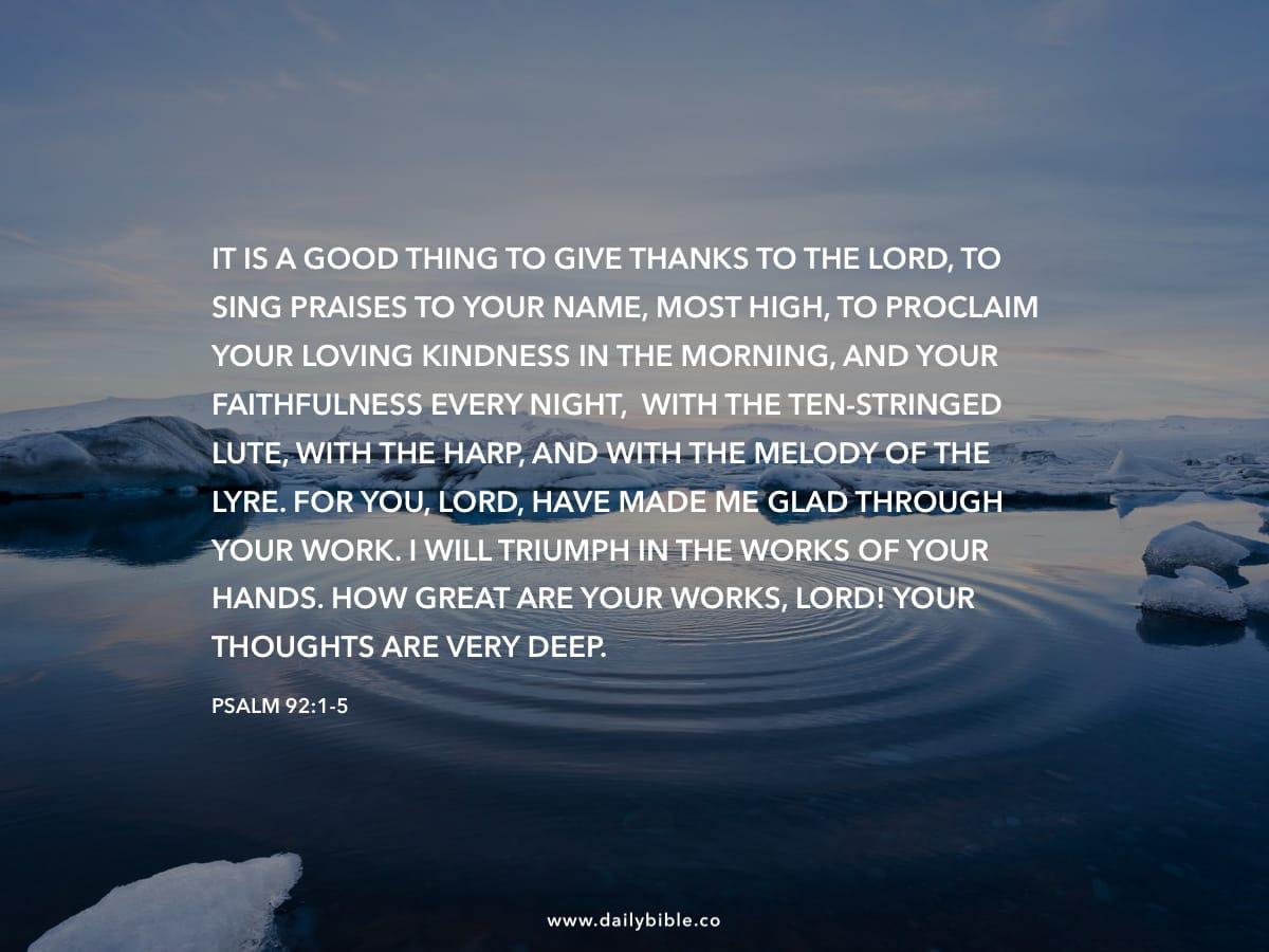 Psalm 92 1 5