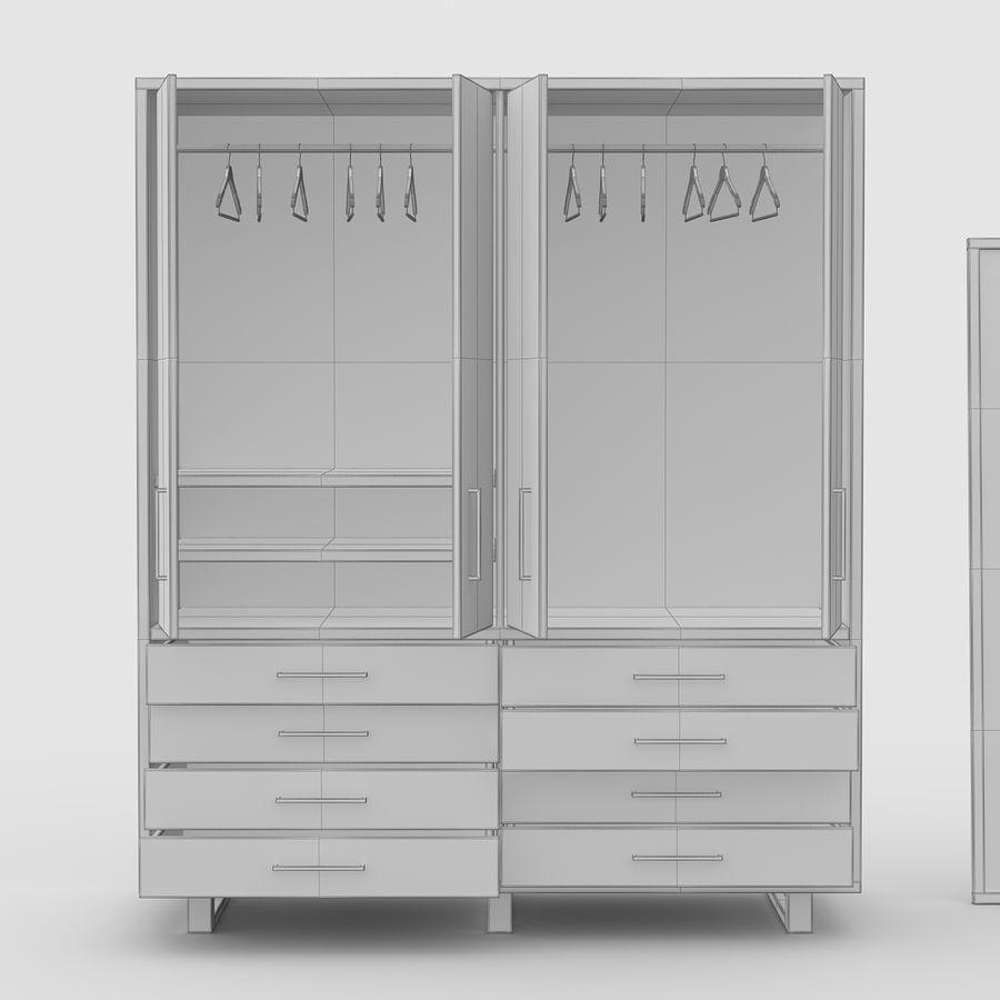 armoire en bois de cerise royalty free 3d model preview no 8