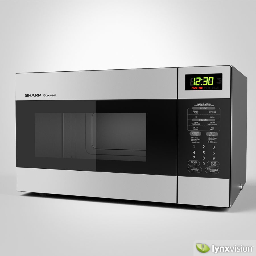 sharp carousel microwave oven 3d model