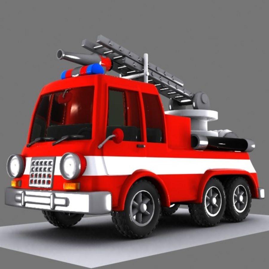 Cartoon Fire Truck 1 3d Model 15 Obj Unknown Fbx 3ds Max Free3d