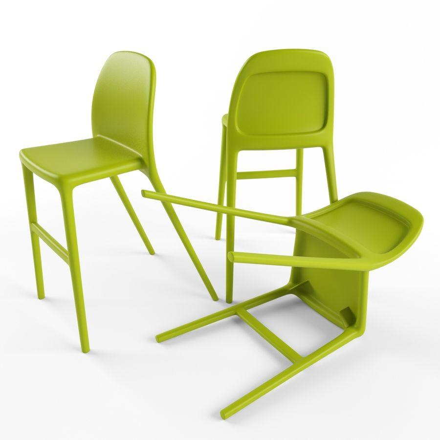 ikea urban junior chair 3d model 12