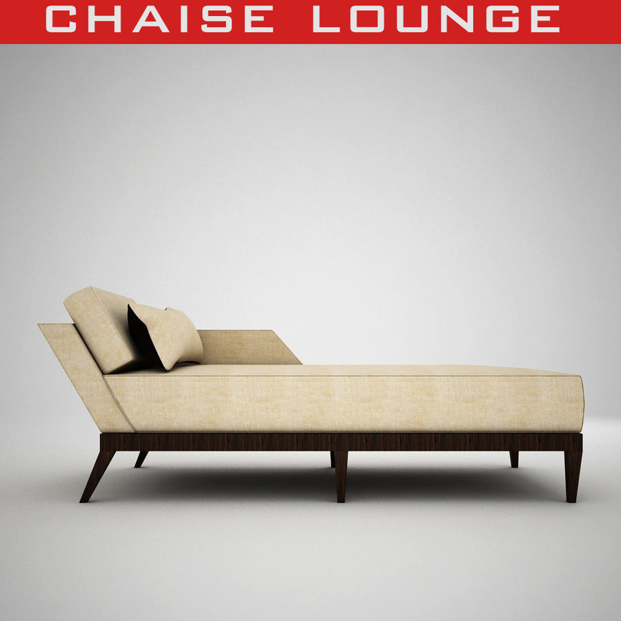 tufted chaise lounge 3d model 18