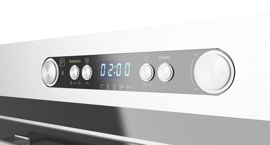 ikea nutid microwave oven 3d model 19
