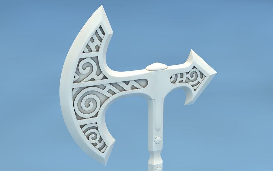 Petite hache viking avec manche gainé de cuir. Hache Viking De Skyrim Modele 3d 14 C4d Free3d