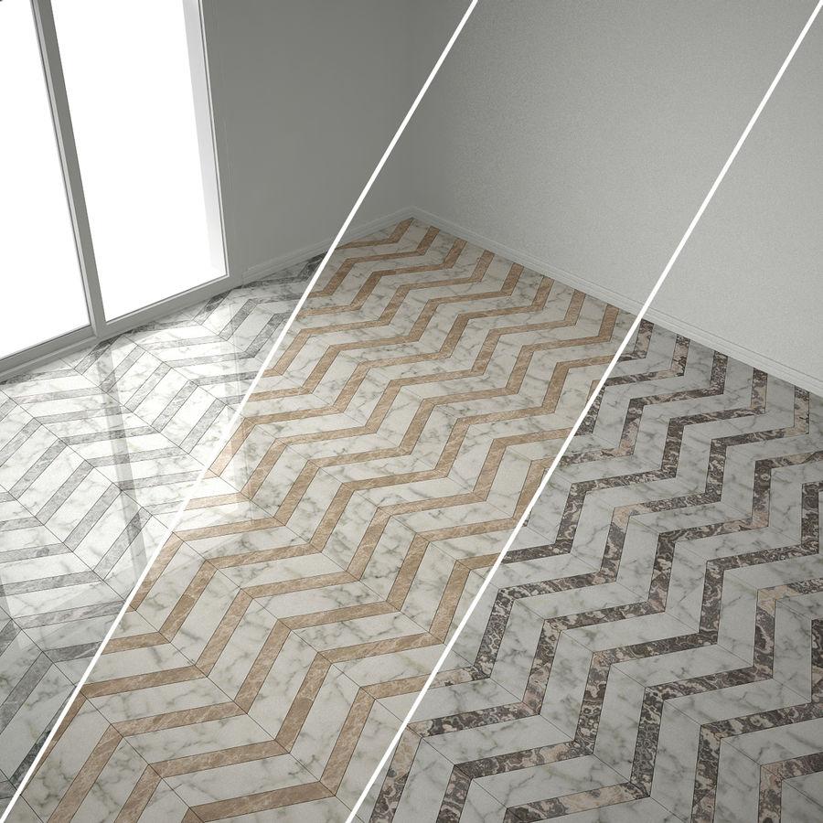 marble herringbone tiles 6 sets 3d