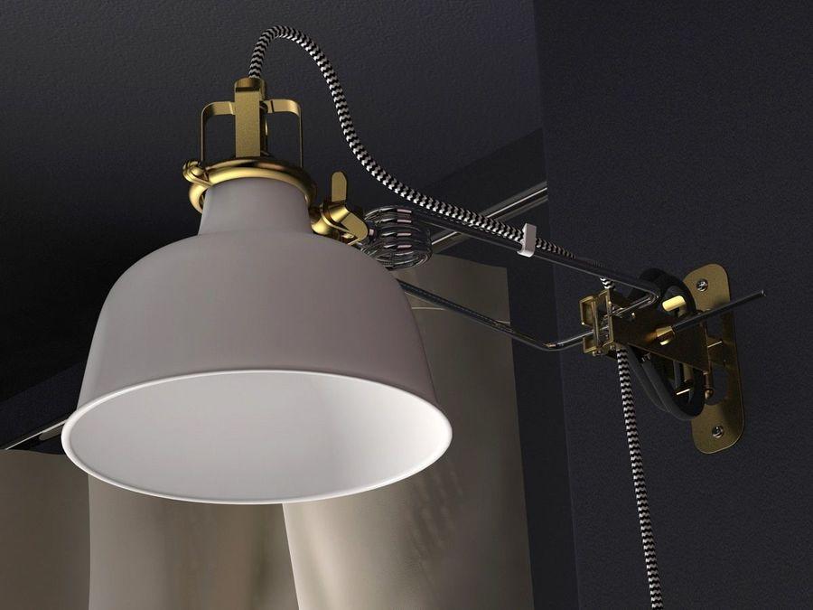 lampe ikea ranarp modele 3d 20