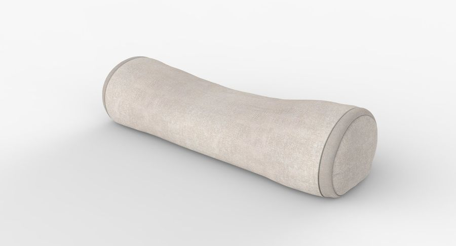 bolster throw pillow 3d model 29