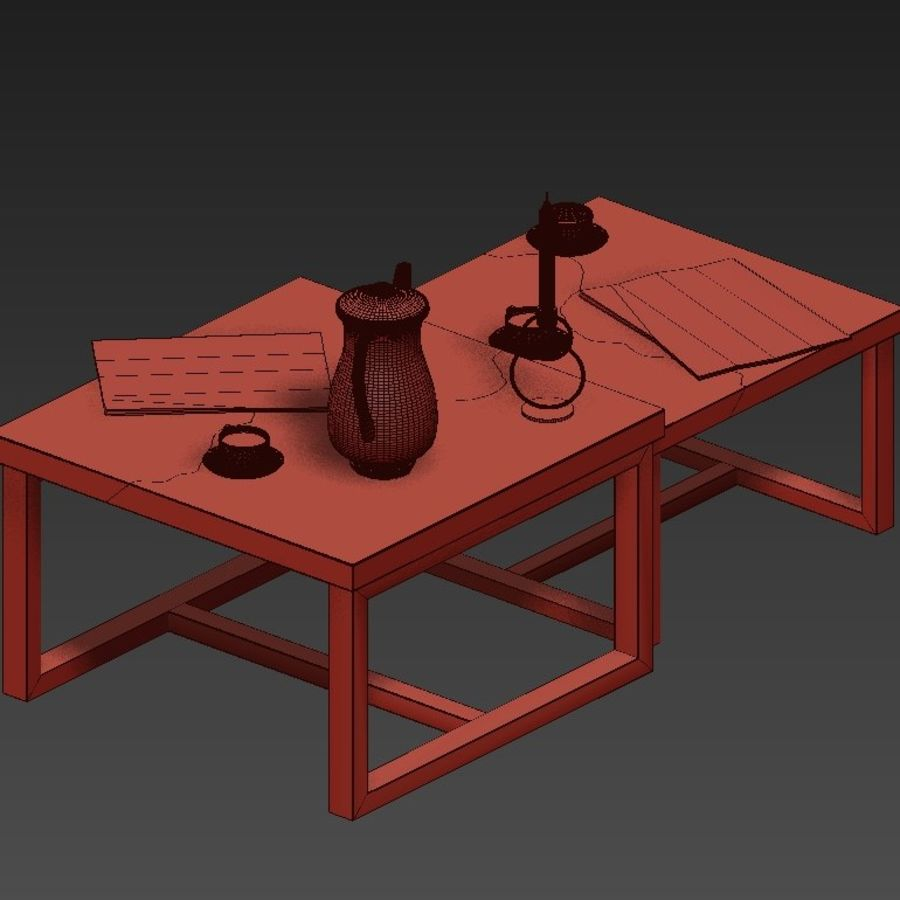 epoxy resin coffee tables 3d model