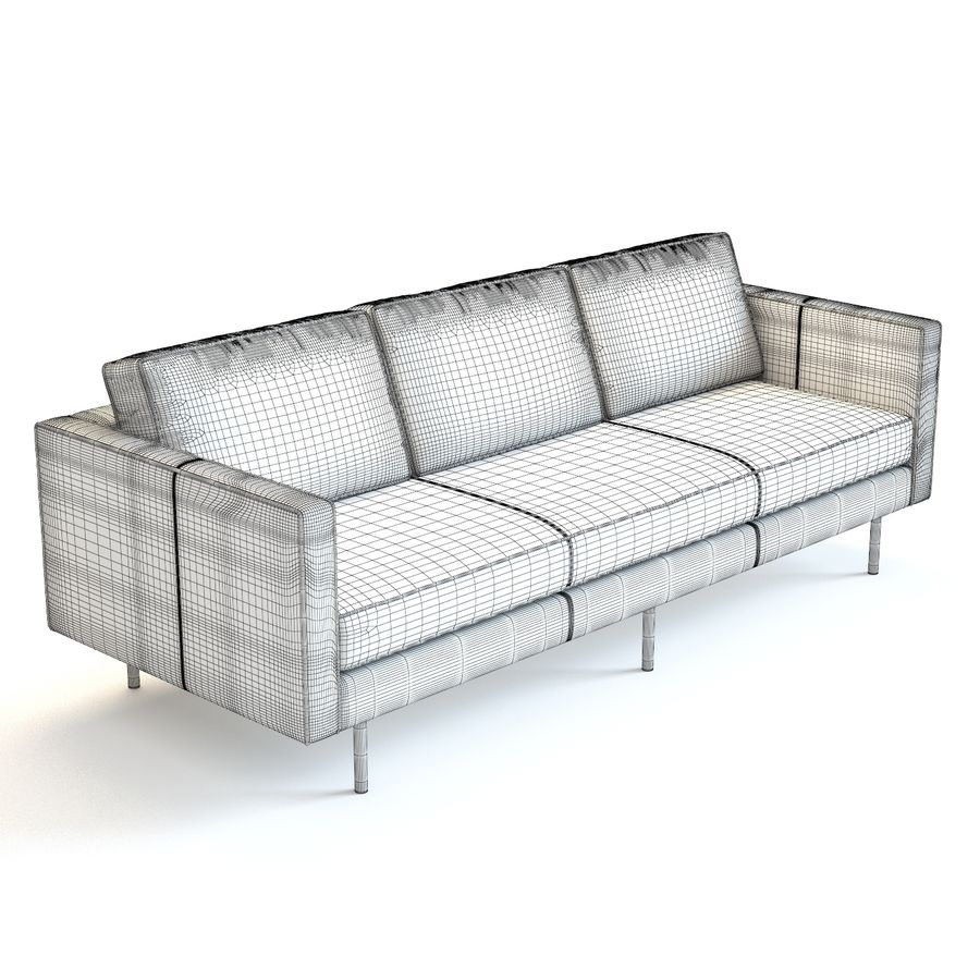 west elm axel sofa 3d model 10