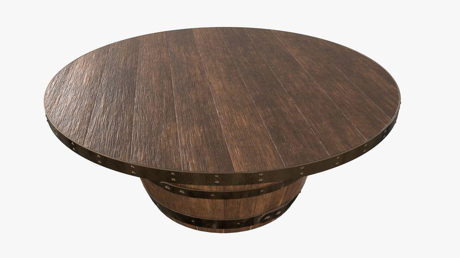 wooden barrel coffee table 3d model 19