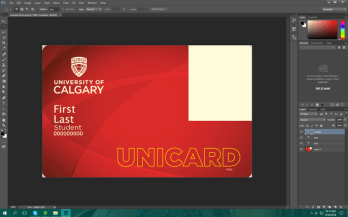 University of Calgary student id card
