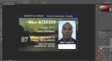 British Columbia Canada driving licence PSD Template