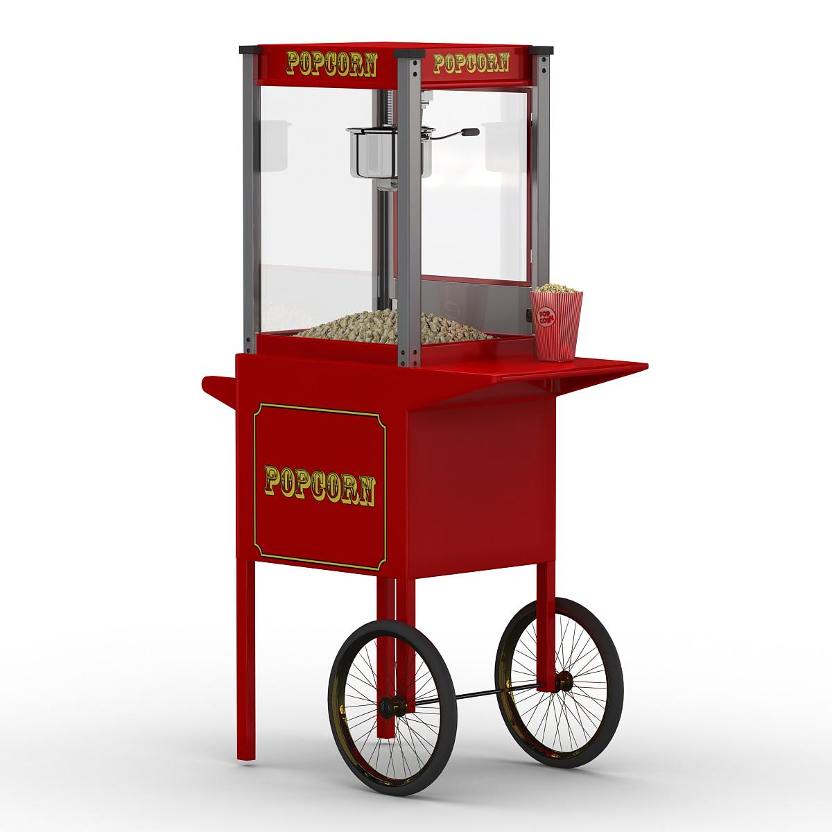 Antimated Popcorn Stand